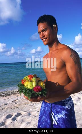 Tikehau Pearl Beach Resort Hotel French Polynesia - Stock Photo