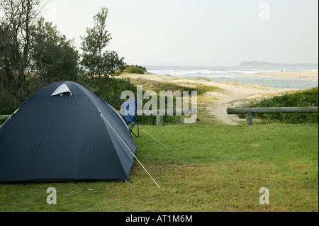 Camping by the sea in Tuross Head NSW Australia - Stock Photo