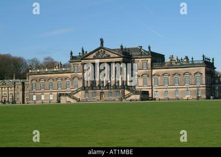 The East Front of Wentworth Woodhouse the longest country house frontage in England, Rotherham South Yorkshire - Stock Photo