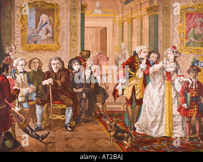 Dr Samuel Johnson 1709 1784 English poet critic essayist and lexicographer in the ante room of Lord Chesterfield - Stock Photo