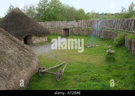 Ireland County Wexford Irish National Heritage Park Rath or Ringfort replica - Stock Photo