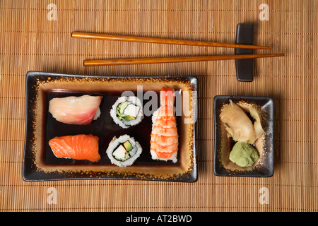 Maki and Nigiri Sushi - Stock Photo