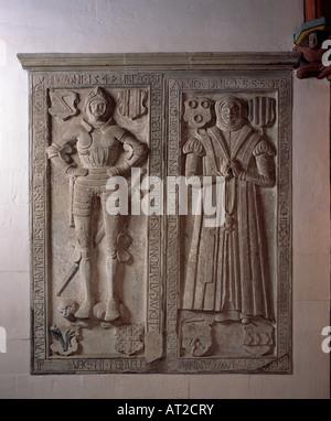 St. Wendel, Basilika St. Wendelin (Wendalinusbasilika), Grabplatte von Soetern - Stock Photo
