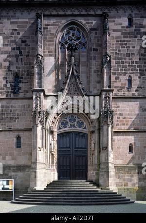 St. Wendel, Basilika St. Wendelin (Wendalinusbasilika), Westportal - Stock Photo