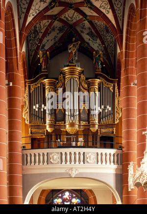 St. Wendel, Basilika St. Wendelin (Wendalinusbasilika), Stumm-Orgel von 1792 - Stock Photo