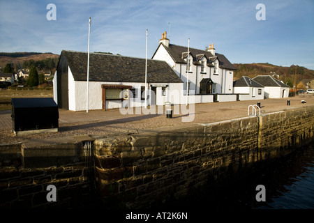 The Caledonian Canal sea lock office at Corpach near Fort William Scotland - Stock Photo