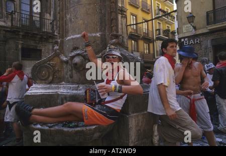 San Fermin Festival Pamplona Navarre Spain - Stock Photo