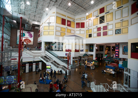 Interior of Shopping Mall at Navy Pier Chicago IL Illinois USA - Stock Photo