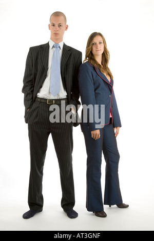 businessman and businesswoman - Stock Photo