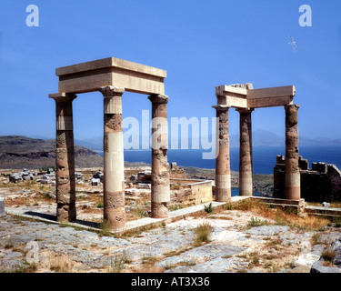 GR - RHODES:  The Acropolis at Lindos - Stock Photo