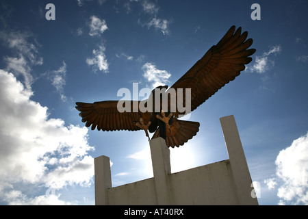 The spread eagle at the entrance to the National Memorial Arboretum in Alrewas in Staffordshire - Stock Photo