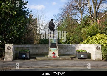 St Pauls' Church and war memorial, Honiton, Devon Stock ...
