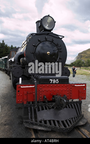 The Kingston Flyer, the vintage steam train, Kingston, Queenstown, South Island, New Zealand - Stock Photo