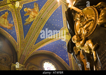 Detail of the cenotaph of Suor Maria Raggi, work by G. L. Bernini, Santa Maria Sopra Minerva Basilica, Rome - Stock Photo