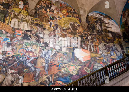 The history of mexico 1929 1935 diego rivera fresco for Diego rivera mural 1929