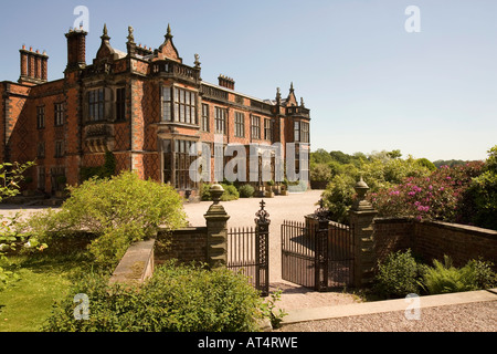 Cheshire Arley Arley Hall from the garden - Stock Photo