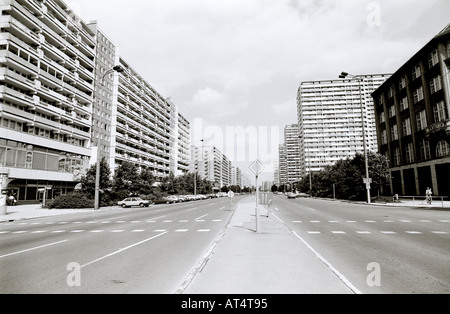 Documentary Travel Photography - Cold War street  scene in East Berlin during the Cold War in East Germany Europe. - Stock Photo