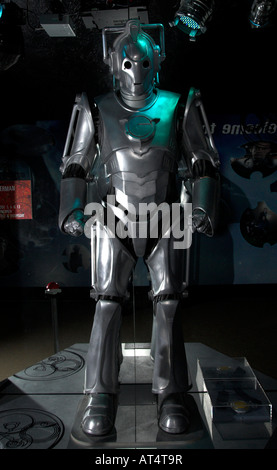 Cyberman at the Dr Who exhibition at Lands End Cornwall - Stock Photo