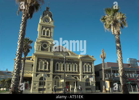 General view of Glenelg Town Hall in Moseley Square, Adelaide, South Australia - Stock Photo