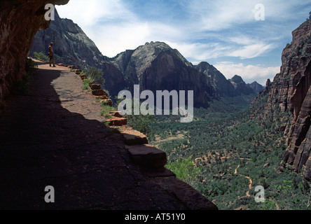 Trail to ANGELS LANDING ZION NATIONAL PARK - Stock Photo