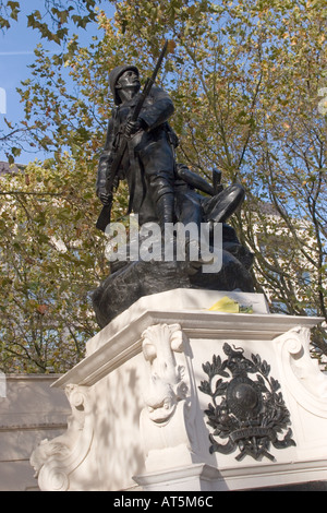 Royal Marines War Memorial in the Mall, Westminster London GB UK - Stock Photo