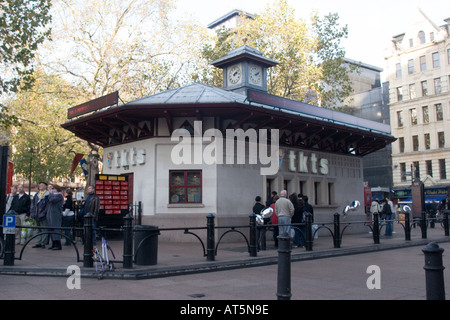 Theatre Ticket Booth in Leicester Square  London England UK - Stock Photo