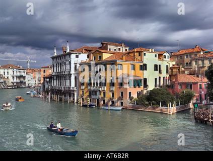 Grand canal near the Academia bridge, Venice - Stock Photo