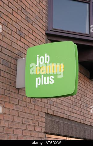 Job Centre Sign UK January 2008 - Stock Photo