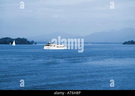 Germany, Bavaria, Lake Chiem - Stock Photo