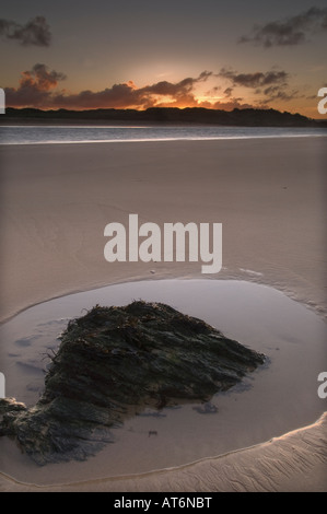 Sunrise over the Camel estuary near Padstow North Cornwall - Stock Photo