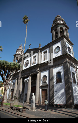 cathedral of san cristobal de la laguna tenerife canary islands spain - Stock Photo