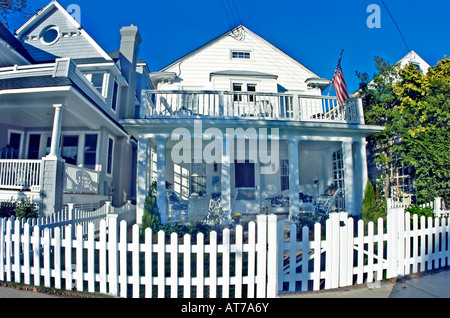 Ocean City, New Jersey, USA Large Traditional Multi-Fam-ily Guest House, White Picket Fence