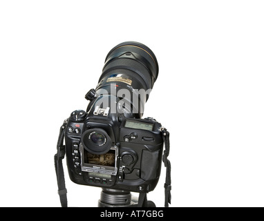 wildlife photographer ´s hand tool telephoto telephoto lens telephotolens tele reflex camera tripod Monitor 300 - Stock Photo