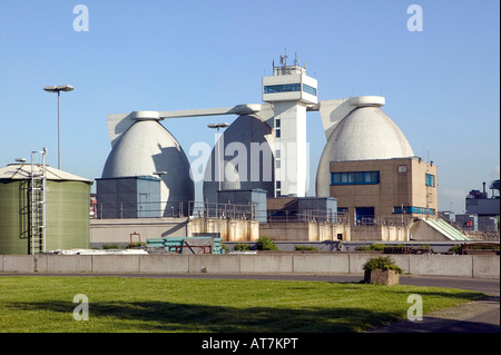 water treatment plant near Krefeld Germany - Stock Photo