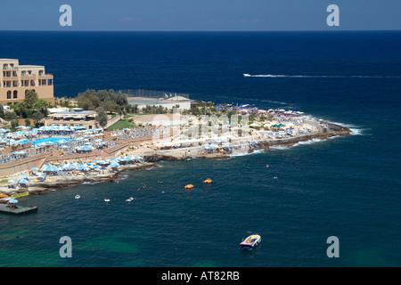 St George s Bay Paceville Malta - Stock Photo