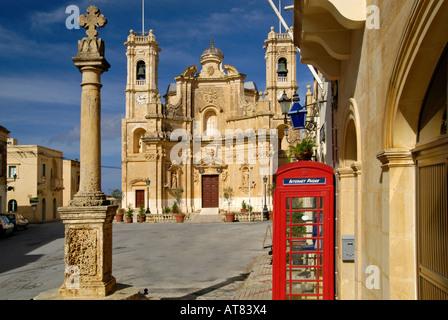 Church of the Visitation Gharb Gozo Malta - Stock Photo