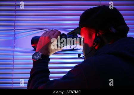 DEU, Germany : Symbolic photo, observation, secret agent, spy, private investigator - Stock Photo