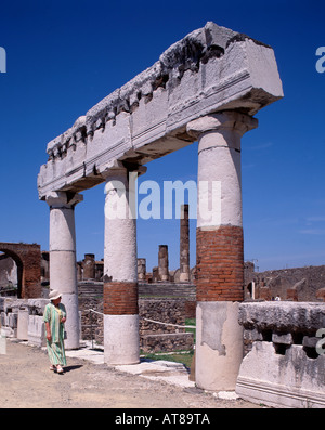 The Forum Pompeii Campania Italy - Stock Photo
