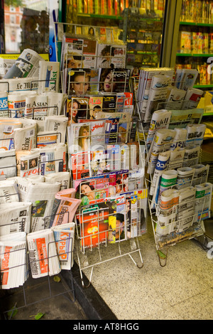 [^international ^Newspapers and magazines] ^Newsagents London - Stock Photo