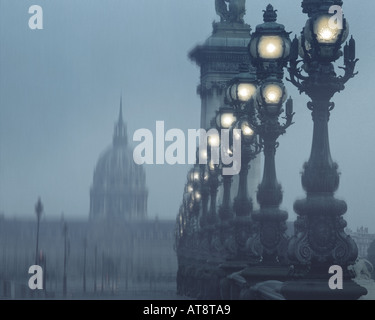 FR - PARIS:  Pont Alexandre III - Stock Photo