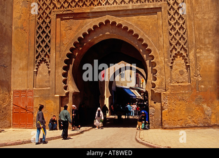 gateway, Fes el-Bali, city of Fez, Fez, Morocco, North Africa, Africa - Stock Photo