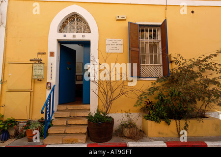 Israel Tel Aviv Yafo Agnon House residence of Nobel prize laureate writer Shmuel Yosef Agnon in Neve Tzedek - Stock Photo