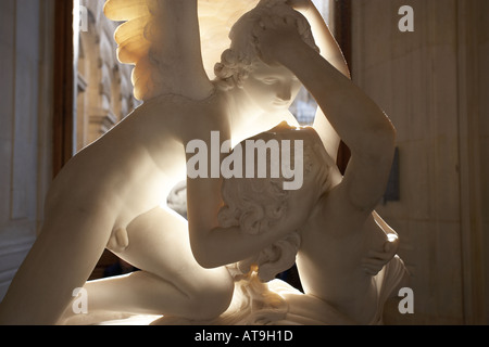 Antonio CANOVA sculpture of Cupid and Psyche 1796 The Louvre Paris France - Stock Photo