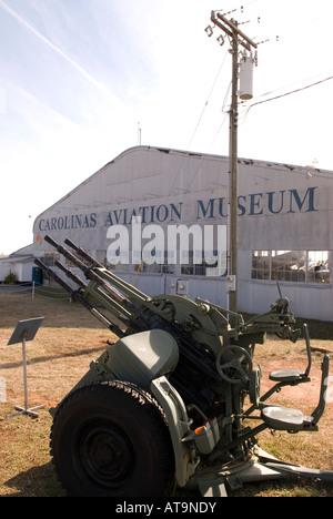 Carolinas Aviation Museum in Charlotte NC USA - Stock Photo