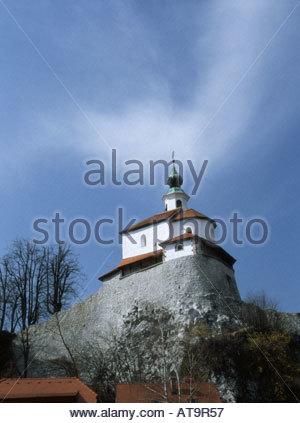 Kamnik, Gorenjska, Slovenia. Mali Grad or Little Castle, orig 11thC - Stock Photo