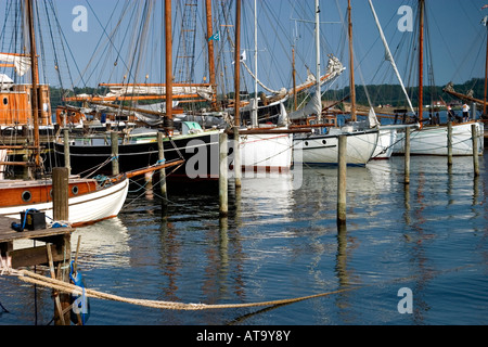 Sailing ships at Svendborg Harbor Svendborg Denmark - Stock Photo