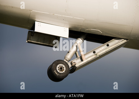 Concorde G-BOAC - Landing Gear Tail Bumper to prevent the tail hitting the runway on takeoff - Stock Photo