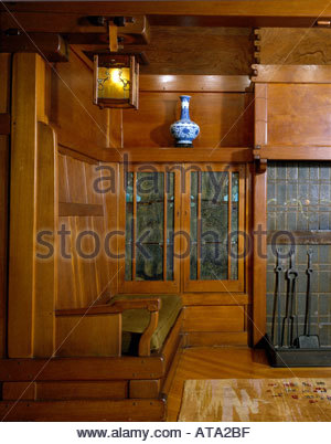 Interior of early twentieth century living room with for The family room pasadena