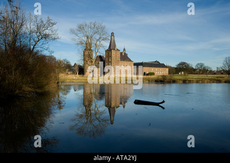 Schloss Hoensbroek in Heerlen Niederlande moated castle Hoensbroek in Heerlen Netherlands founded in 1250 - Stock Photo