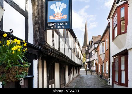 Church Lane, Ledbury, Herefordshire - Stock Photo